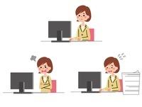 パソコン前で感情表現をするOL 10423000263| 写真素材・ストックフォト・画像・イラスト素材|アマナイメージズ