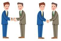 ビジネスシーン(名刺交換、握手)