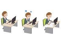 パソコン前で感情表現をするOL 10423000283| 写真素材・ストックフォト・画像・イラスト素材|アマナイメージズ