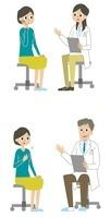 診察を受ける女性 10423000335| 写真素材・ストックフォト・画像・イラスト素材|アマナイメージズ
