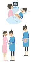 妊婦の病院シーン 10423000336| 写真素材・ストックフォト・画像・イラスト素材|アマナイメージズ