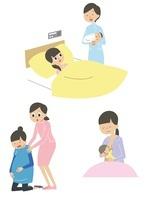 妊婦、出産後の女性