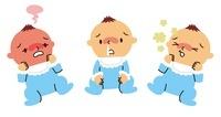 赤ちゃんの発熱、鼻水、せき 10423000360| 写真素材・ストックフォト・画像・イラスト素材|アマナイメージズ