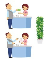 診療受付、内服薬を受取り、観葉植物 10423000366| 写真素材・ストックフォト・画像・イラスト素材|アマナイメージズ