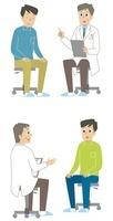 診察を受ける男性