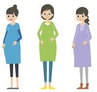 妊婦三人 10423000377| 写真素材・ストックフォト・画像・イラスト素材|アマナイメージズ