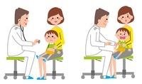 診察を受ける男の子 10423000384| 写真素材・ストックフォト・画像・イラスト素材|アマナイメージズ
