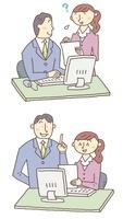 上司に指導を受ける女性のビジネスシーン