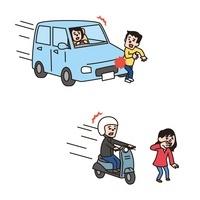 事故(車と人、バイクと人) 10423000405| 写真素材・ストックフォト・画像・イラスト素材|アマナイメージズ