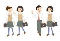 友達と通学2パターン