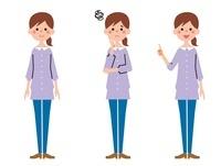 若い女性 表情3パターン
