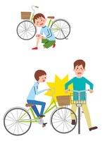 自転車横転、自転車同士の事故