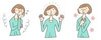 お悩み解決のイメージ(女性) 10423000455| 写真素材・ストックフォト・画像・イラスト素材|アマナイメージズ