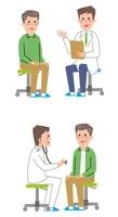医者と男性患者