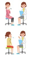 女医と女性患者 10423000480| 写真素材・ストックフォト・画像・イラスト素材|アマナイメージズ