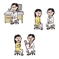 女医、女性患者と女医(悩み、安心) 10423000486| 写真素材・ストックフォト・画像・イラスト素材|アマナイメージズ