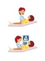 産婦人科/診察、エコー検査 10423000500| 写真素材・ストックフォト・画像・イラスト素材|アマナイメージズ