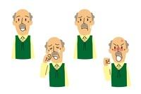 介護表情/シニア男性(喜び、悲しい、困る、怒る) 10423000502| 写真素材・ストックフォト・画像・イラスト素材|アマナイメージズ
