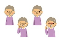 介護表情/シニア女性(喜び、悲しい、困る、怒る) 10423000503| 写真素材・ストックフォト・画像・イラスト素材|アマナイメージズ