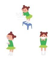 手洗い、うがい、マスクをする女の子 10423000513| 写真素材・ストックフォト・画像・イラスト素材|アマナイメージズ