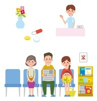 病院の待合室、受付、薬 10423000536| 写真素材・ストックフォト・画像・イラスト素材|アマナイメージズ