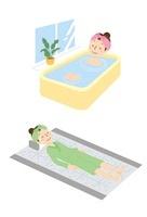 温浴、岩盤浴、女性