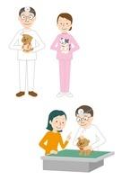犬・猫を診察する獣医