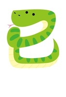 巳の文字を作るヘビ