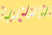 桜と音符のヘビ