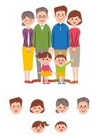 家族(父、母、姉、弟、祖父母)