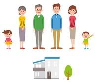 家族(祖父母、父母、姉弟)と家