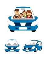 家族(ドライブ)、コンパクトカー 10423000672| 写真素材・ストックフォト・画像・イラスト素材|アマナイメージズ