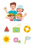 家族と夏アイコン