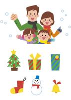 家族とクリスマスアイコン