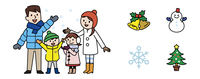 家族と冬アイコン