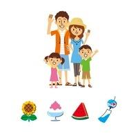 家族、夏 10423000710| 写真素材・ストックフォト・画像・イラスト素材|アマナイメージズ