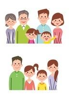 核家族・拡大家族(バストアップ) 10423000715| 写真素材・ストックフォト・画像・イラスト素材|アマナイメージズ