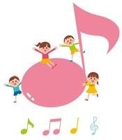 音符と子ども・アイコン