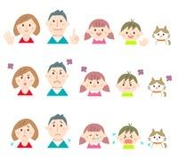 家族の表情パターン違い