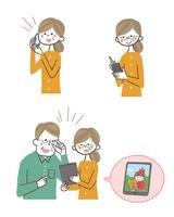 スマートフォンを使うおばあさん・タブレットを使う老夫婦 10423000776| 写真素材・ストックフォト・画像・イラスト素材|アマナイメージズ