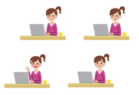 パソコンを使う女の子