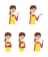 女性表情5パターン