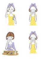 スキンケアをする女性