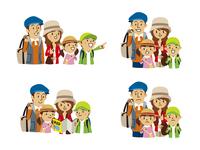 家族旅行(指さし、地図を見る、笑顔、困惑) 10423000851| 写真素材・ストックフォト・画像・イラスト素材|アマナイメージズ