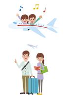 カップルで旅行(飛行機)