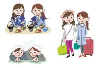 女友達で温泉旅行
