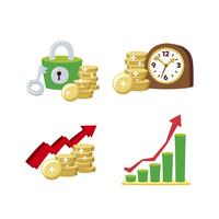 金融(セキュリティ、時は金なり、グラフ)