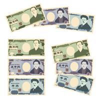 お金 紙幣(一万円、五千円、千円)