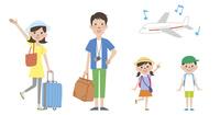 家族で海外旅行と飛行機
