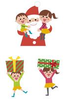サンタクロースと子ども 10423001060| 写真素材・ストックフォト・画像・イラスト素材|アマナイメージズ